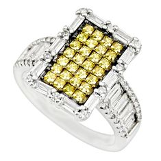 5.83cts yellow topaz quartz topaz 925 sterling silver ring jewelry size 7 c9376