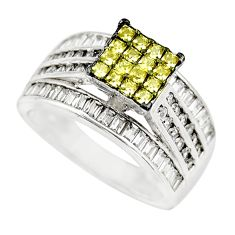 3.68cts yellow topaz quartz topaz 925 sterling silver ring jewelry size 7 c9379