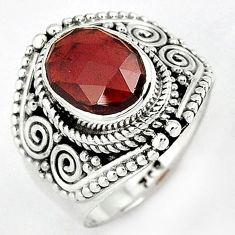 MAGICAL NATURAL RED RHODOLITE 925 STERLING SILVER RING JEWELRY SIZE 6.5 H43566