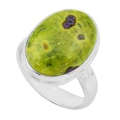 13.77cts natural atlantisite stichtite-serpentine silver ring size 7.5 p80543