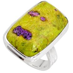 14.72cts natural atlantisite stichtite-serpentine silver ring size 6.5 p90993