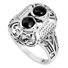 2.37cts natural black onyx 925 sterling silver solitaire ring size 8 p36187