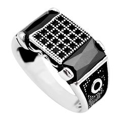 7.02cts natural black onyx topaz 925 sterling silver mens ring size 9.5 c1066