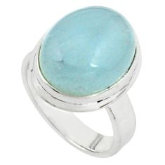 8.68cts natural blue aquamarine 925 silver solitaire ring jewelry size 7 p77791