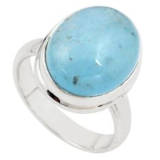 8.41cts natural blue aquamarine 925 silver solitaire ring jewelry size 7 p78325