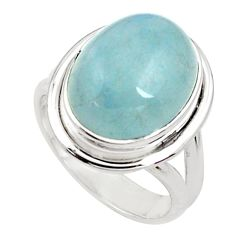 8.70cts natural blue aquamarine 925 silver solitaire ring jewelry size 7 p78346
