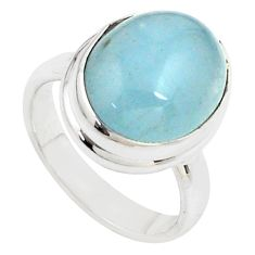 8.14cts natural blue aquamarine 925 silver solitaire ring jewelry size 7 p78355