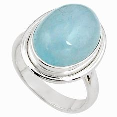 8.70cts natural blue aquamarine 925 silver solitaire ring jewelry size 7 p78357