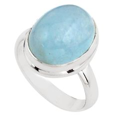 8.12cts natural blue aquamarine 925 silver solitaire ring jewelry size 8 p88438