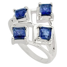 2.35cts natural blue iolite 925 sterling silver ring jewelry size 8 p81737