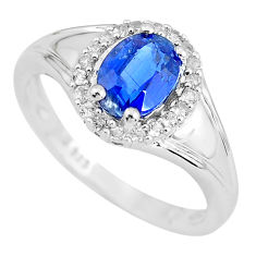 4.38cts natural blue kyanite 925 sterling silver ring jewelry size 9 c3917