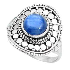 Clearance Sale- 2.46cts natural blue kyanite 925 sterling silver solitaire ring size 8 d32047