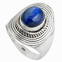 4.27cts natural blue kyanite 925 sterling silver solitaire ring size 8 p88865