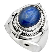 4.40cts natural blue kyanite 925 sterling silver solitaire ring size 7 p88867