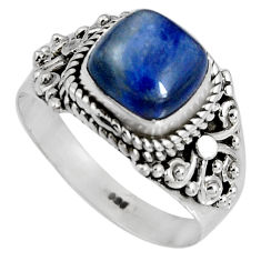 3.01cts natural blue kyanite 925 sterling silver solitaire ring size 7 p90575