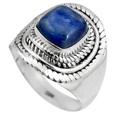 3.27cts natural blue kyanite 925 sterling silver solitaire ring size 7 p92043