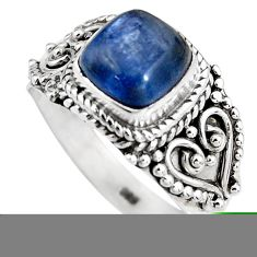 3.40cts natural blue kyanite 925 sterling silver solitaire ring size 8 p92056