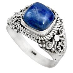 3.39cts natural blue kyanite 925 sterling silver solitaire ring size 7 p92057