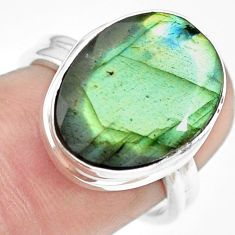 9.39cts natural blue labradorite 925 silver solitaire ring jewelry size 7 p71374