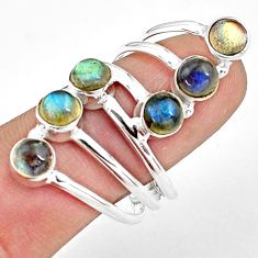 5.51cts natural blue labradorite 925 sterling silver ring jewelry size 9 p77777