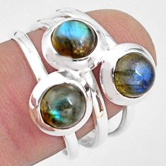 3.41cts natural blue labradorite 925 sterling silver ring jewelry size 7 p85811