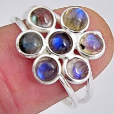 5.51cts natural blue labradorite 925 sterling silver ring jewelry size 8 p89876