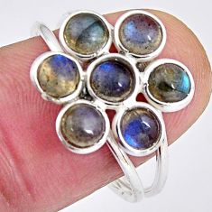 5.49cts natural blue labradorite 925 sterling silver ring jewelry size 8 p89877