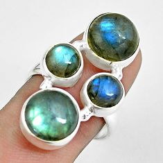 13.82cts natural blue labradorite 925 sterling silver ring size 8.5 p61900