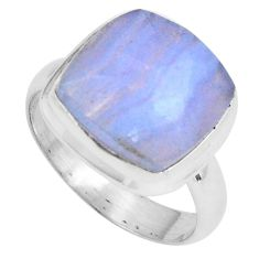 6.53cts natural blue lace agate 925 silver solitaire ring jewelry size 7 p89919