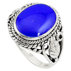 4.52cts natural blue lapis lazuli 925 sterling silver ring jewelry size 7 c4183