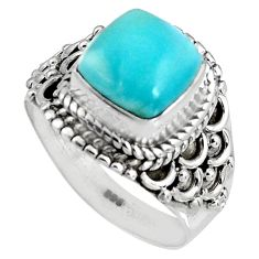 3.35cts natural blue larimar 925 silver solitaire ring jewelry size 6 p90125