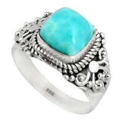 3.01cts natural blue larimar 925 silver solitaire ring jewelry size 7 p90137