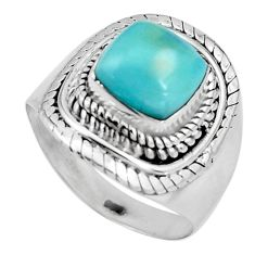 3.42cts natural blue larimar 925 silver solitaire ring jewelry size 7 p92529