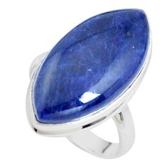 15.85cts natural blue sodalite 925 silver solitaire ring jewelry size 9 p38783
