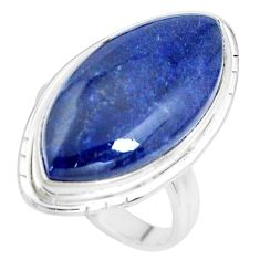 18.15cts natural blue sodalite 925 silver solitaire ring jewelry size 9 p38790