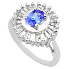 5.38cts natural blue tanzanite topaz 925 sterling silver ring size 8 c4291