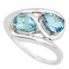 3.50cts natural blue topaz 925 sterling silver ring jewelry size 7.5 p62181
