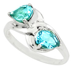 3.32cts natural blue topaz 925 sterling silver ring jewelry size 7 p73025
