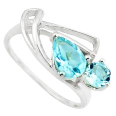 2.42cts natural blue topaz 925 sterling silver ring jewelry size 6 p73166