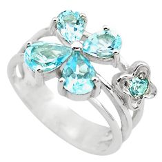 5.97cts natural blue topaz 925 sterling silver ring jewelry size 5.5 p82828