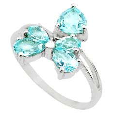 4.52cts natural blue topaz 925 sterling silver ring jewelry size 8.5 p82889