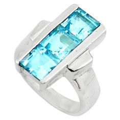 4.01cts natural blue topaz 925 sterling silver ring jewelry size 6 p83082