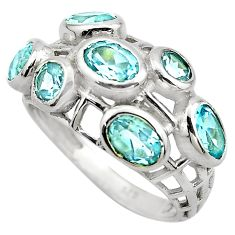 6.26cts natural blue topaz 925 sterling silver ring jewelry size 8 p83137