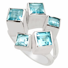 3.45cts natural blue topaz 925 sterling silver ring jewelry size 9.5 p83154