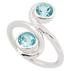 1.84cts natural blue topaz 925 sterling silver ring jewelry size 8.5 p83211