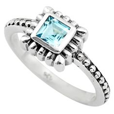 0.43cts natural blue topaz 925 sterling silver solitaire ring size 5.5 p83606