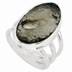 15.97cts natural brown agni manitite 925 silver solitaire ring size 7.5 p68401