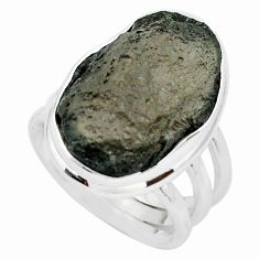 18.63cts natural brown agni manitite 925 silver solitaire ring size 7.5 p68417