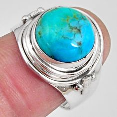 5.79cts natural campitos turquoise 925 silver solitaire ring size 7.5 p89860
