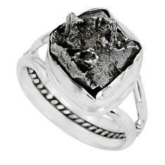 17.95cts natural campo del cielo 925 silver solitaire ring size 8 p69138
